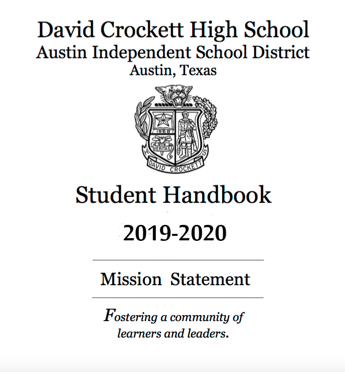 Crockett High School Student Handbook 2019-2020